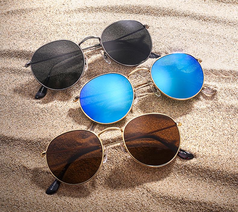 Burgess Round Vintage Sunglasses