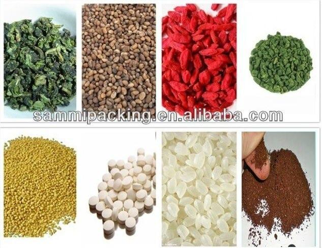 Machine demballage de pesage automatique 2-200g pour sucre, sel, grain de café, feuille de thé, poudre dépices, granulés, graines