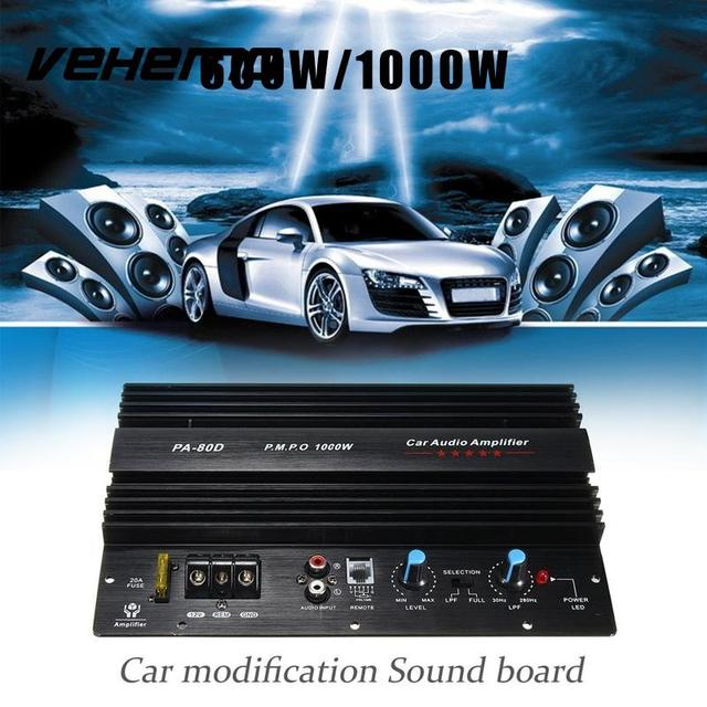 Best Offers Vehemo Black Metal 600W Amplifier Board Audio Amplifier Car Electronics Subwoofer Powerful Power Amplifier