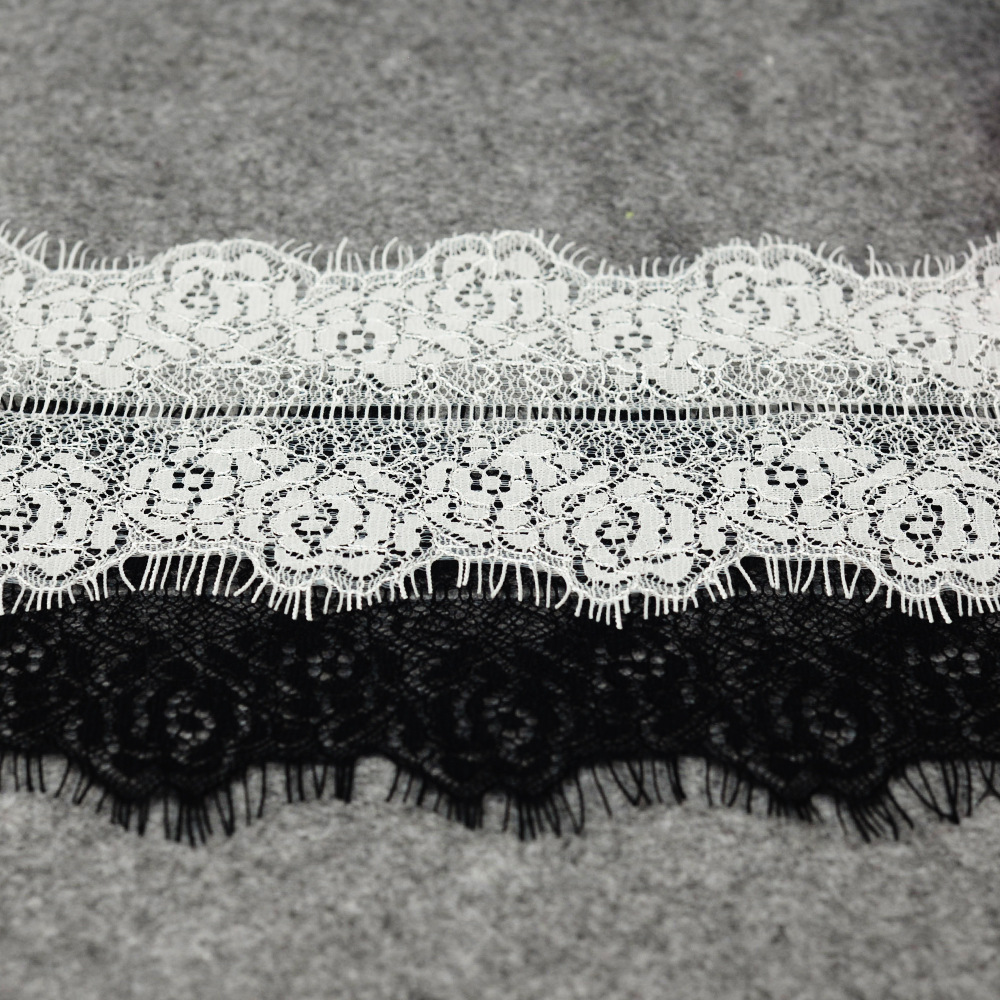 ZOTOONE 10 300CM Eyelash White Lace Fabric Elastic Cord Guipure African Lace Fabric 2018 High Quality Lace Ribbon for Needlework in Lace from Home Garden