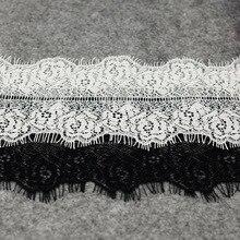 ZOTOONE 10*300CM Eyelash White Lace Fabric Elastic Cord Guipure African 2018 High Quality Ribbon for Needlework