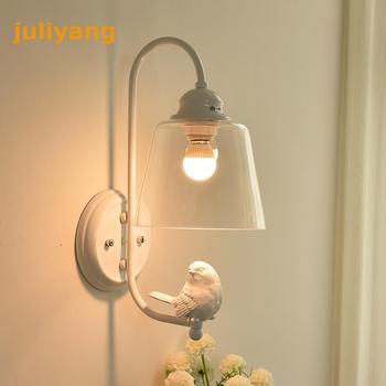 juliyang Modern Indoor Concise Aisle Lamp Living Bedside Glass Wall Lamp Northern Europe Originality Decorate Birdie
