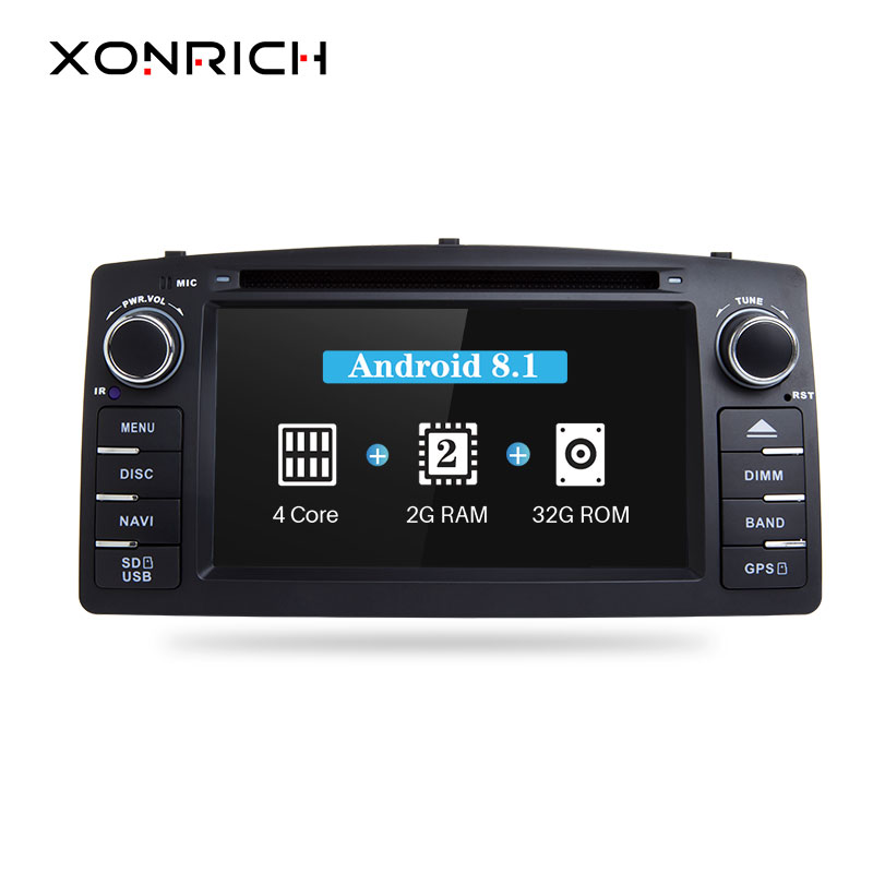 Xonrich Android 8 1 Car DVD Player For Toyota Corolla E120 BYD F3 2 Din Car