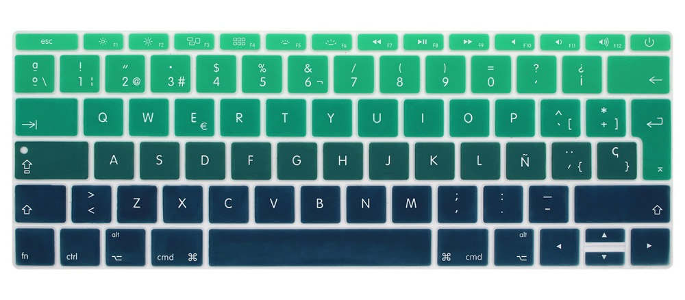 Image 4 - Silicone Keyboard Cover for Macbook 12 inch A1534 and New MacBook Pro 13 inch A1708 A1988, Spanish & English European ISO Layout-in Keyboard Covers from Computer & Office