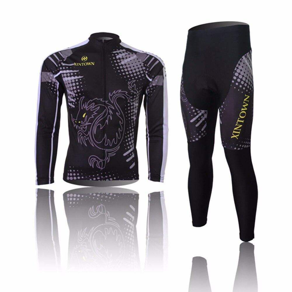 Amur Leopard Mens Dragon Tiger Long Sleeve Cycling Jerseys with Pant Suit Thermal Bike Clothing maillot ciclismo полотенцесушитель milardo amur amusm10m49