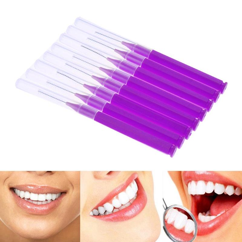 8pcs/Pack Floss Sticks Tooth Flossing Head Hygiene Dental Plastic Toothpick Interdental Brush Cleaning Oral Health Wholesale