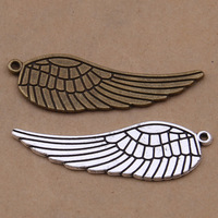 Daisies 50pcs 47*15mm Vintage Metal Zinc Alloy Big Angel Wings Charms For Diy Statement Jewelry Pendant Making Wholesale