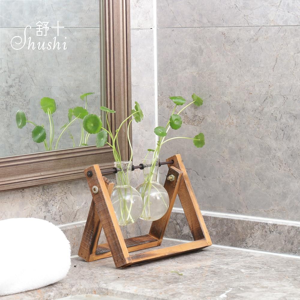 SHUSHI Gourd shape Modern Tabletop Vase Metal Square Flower Plant Pot Tray Cube Pergola Garden Planting Flower Home Decoration