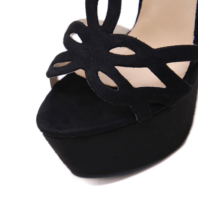 Schuhe Mode Alias Plattform Schnalle High T Dias Toe Mujer Blue Heels Zip Frau Peep Sandalen Luxus Damen apricot schwarzes Sexy Wildleder strap Ferse qwEvUw6