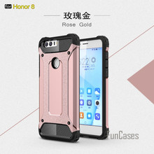 Slim Armatura Anti-Shock per Huawei Honor 8 Custodia In Silicone Robusta Gomma Hybrid Hard Case PC Phone per fundas Honor 8 Della Copertura Della Cassa(China)