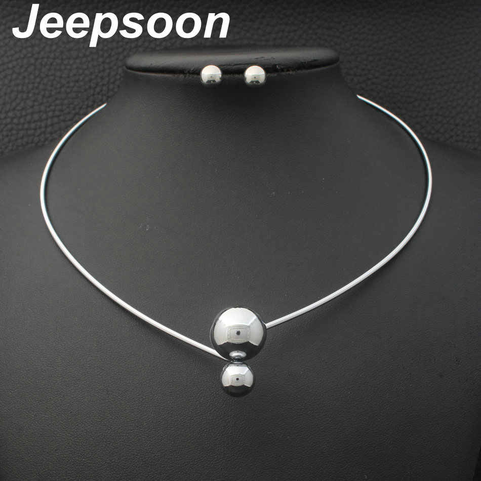 Newest Fashion Stainless Steel Jewelry 2 Colors pendant and earring sets For Women Wholesale SFAJAMAI