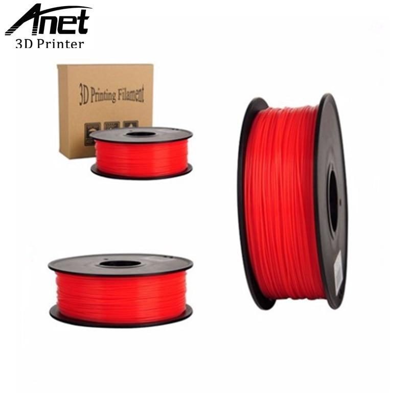 ANET 3D printer filament PLA 10 colors 1kg bag 350 meters 1 75mm optional consumable material