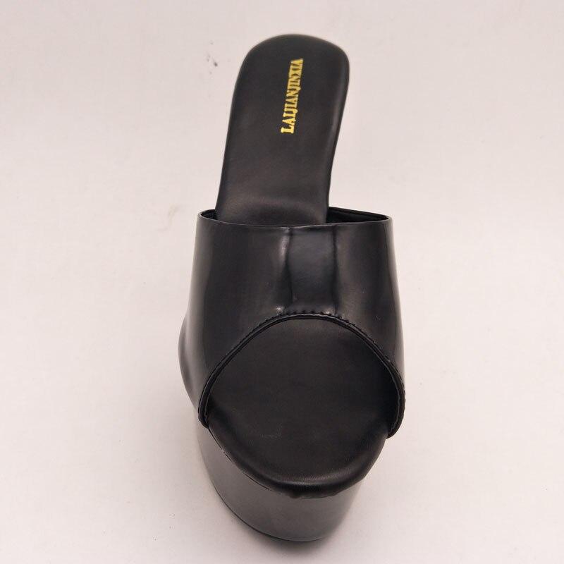 Ouvert Cm Air Noir Hauts Slipper Plein Chaussures Nouveau En Femmes Pantoufles Mode Laijianjinxia D'été Bout Diapositives Talons 15 À I4PRZqFw