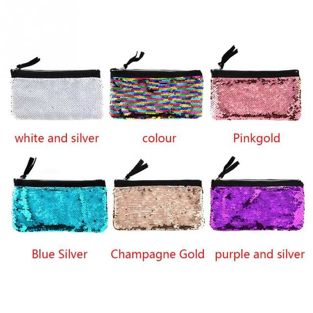 1e0ad09c0337 Fashion Sequins Paillette Evening Clutches Cosmetic Bag Makeup Bag Pouch  Women Toiletry Bag Beauty Case Travel