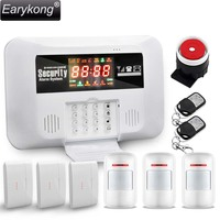 2015 Free Shipping Wholesale Wireless GSM Alarm System Auto Dail With LED Display KeyBoard Voice Door