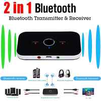 Yiwa 2 in 1 Bluetooth Transmitter Receiver Wireless HIFI Stereo Audio Music Adapter