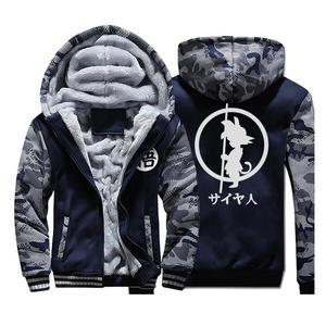 Image 1 - Japan Anime DRAGON BALL Z  Hoodies Men 2019 Winter Warm Jackets Fleece High Quality Thick Sweatshirts Plus Size Mens Coat