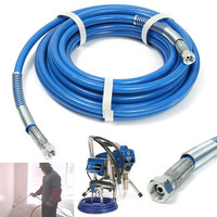 High Pressure Pipe 10m 5000psi Airless Paint Spray Hose For Spary Gun Sprayer Water 50' x 1/4 Sprayer Airless Paint Hose