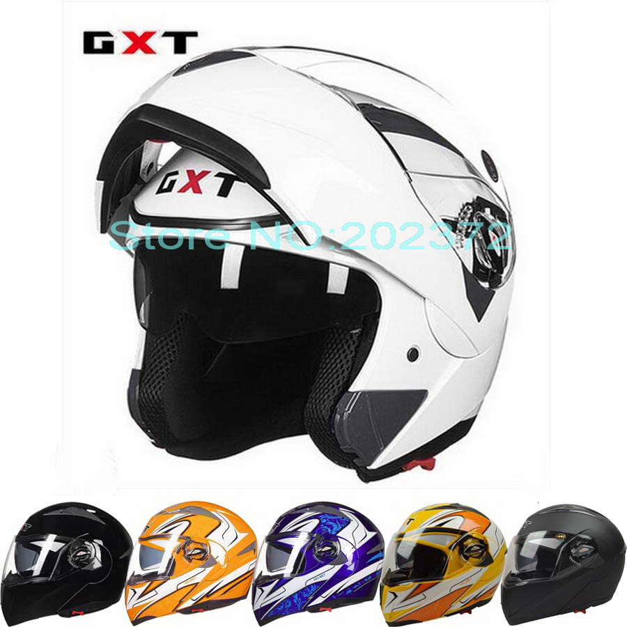 ФОТО 2017 New GXT open face motorcycle helmet double lens undrap face motorbike helmets with anti-fog lens made of ABS size L XL G158