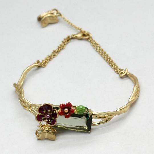 European fashion jewelry les nereides square quarz flower chain bracelet party jewelry -Free Shipping