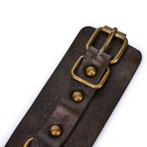 Image 5 - Коричневые винтажные наручники из натуральной кожи для секса, наручники для бондажа, наручники для рук, игры для взрослых, секс игрушки для женщин, пар