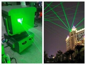 Flightcase + ماء تتحرك رئيس ضوء الليزر الأخضر 5 واط 10 واط 15 واط ليزر skymark كبيرة عرض الإعلان نافورة مدينة مشهد