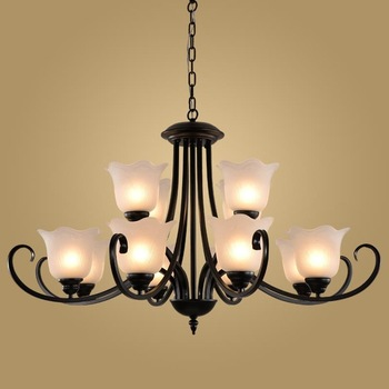 Modern Retro Chandelier for Kitchen Bedroom Hanging Antique Iron Chandelier American Style BLC9048