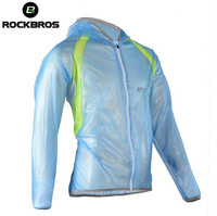 RockBros Hooded Waterproof MTB Road Cycling Raincoat Ultra Light Anti Dust Outdoor Hiking Climbing Fishing Travel