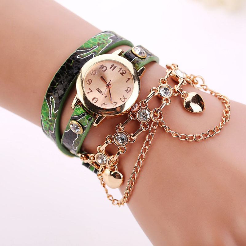 Splendid Luxury Brand Bracelet Watch Women Fashion Rose Gold Diamond Leather Wristwatches Casual Ladies Chain Quartz Clock Watch popular brand watch women gold bracelet weave leather