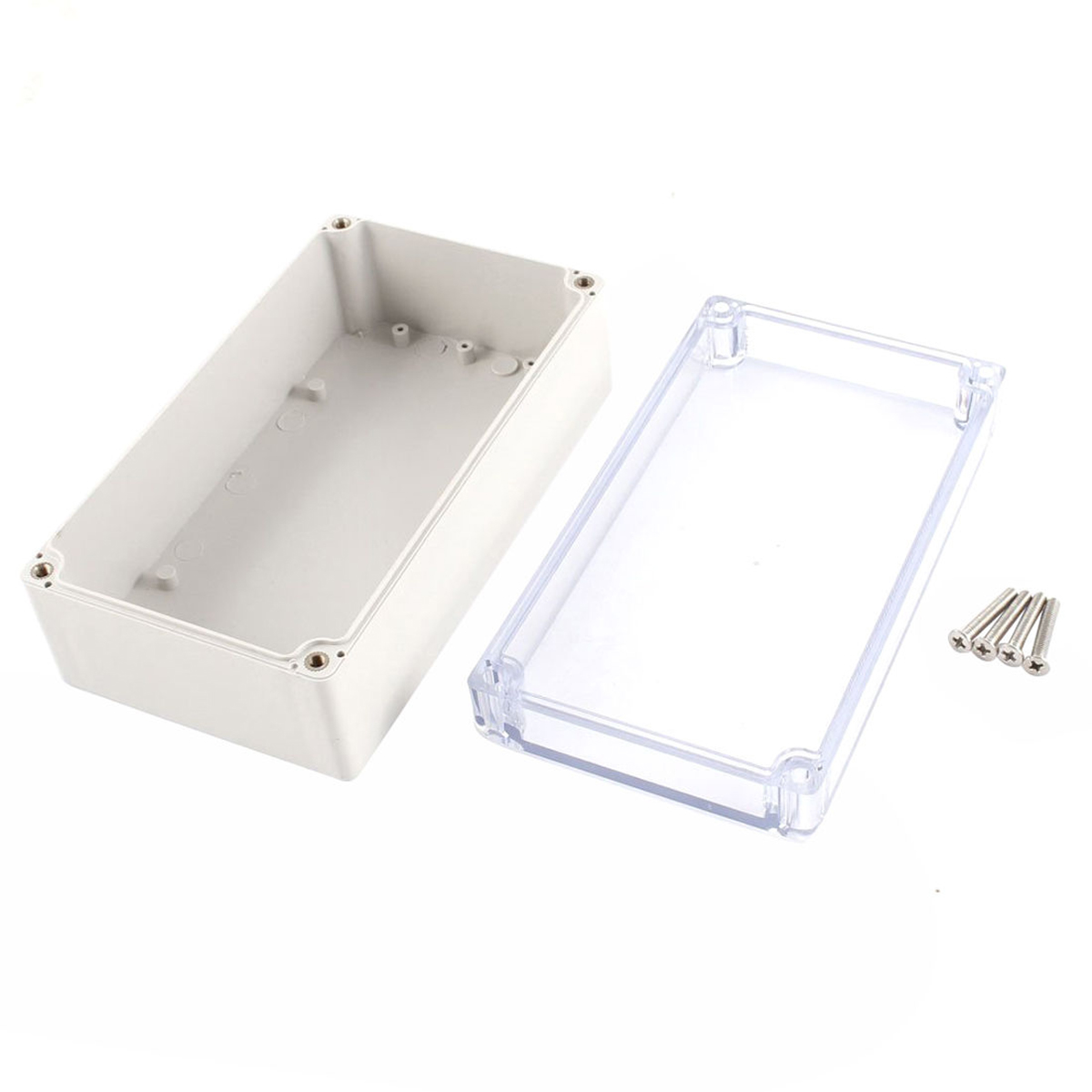 1pc Plastic Electronic Project Box Waterproof Clear Enclosure Instrument Case Cover 158mmx90mmx60mm with 4pcs Screws 1pc waterproof enclosure box plastic electronic project instrument case 200x120x75mm