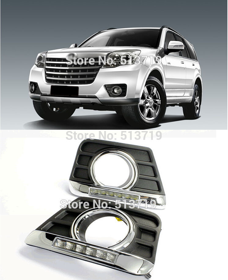 ФОТО LED Daytime Running Light Fit For H3 Hover Great Wall HAVAL, Daylight Auto DRL Car Fog Lamp Super Bright LED Free shipping
