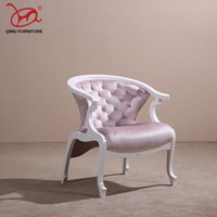 Morden furniture solid wood armchairs soft leather Colorful flannel Single chair leisure chairs suitable for the living room