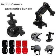 Kask rowerowy akcesoria zestaw do Sony RX0 II X3000 X1000 AS300 AS200 AS100 AS50 AS30 AS20 AS15 AS10 AZ1 mini kamera akcji