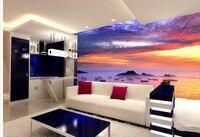 Decoração Da casa 3d murais de parede Estética Sete-cor Nuvens Brilhante Pintura A Óleo Da Paisagem Sala TV Pano de Fundo