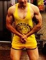 M-XXL 100% хлопок мужская синглетный жилет Gymshark бодибилдинг стрингер жилет человек топы
