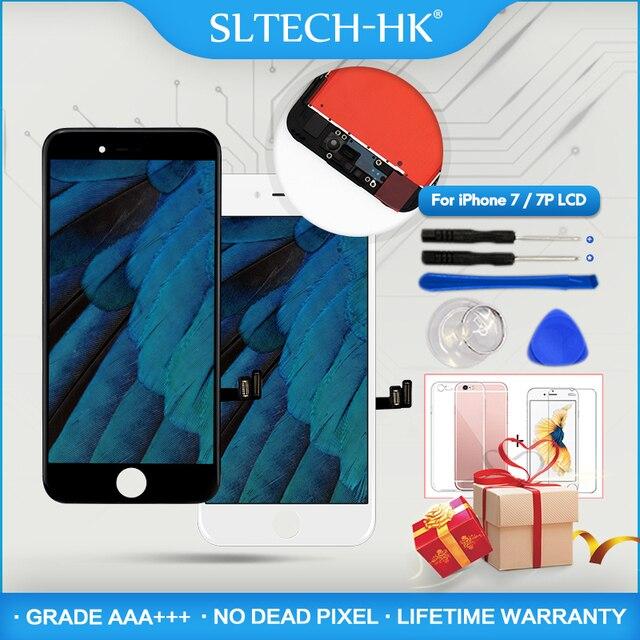 AAA + + + качественный ЖК-дисплей для iPhone 7 7 Plus замена экрана для Apple 8 8 Plus без битых пикселей дисплей 100% с 3D сенсорной гарантией