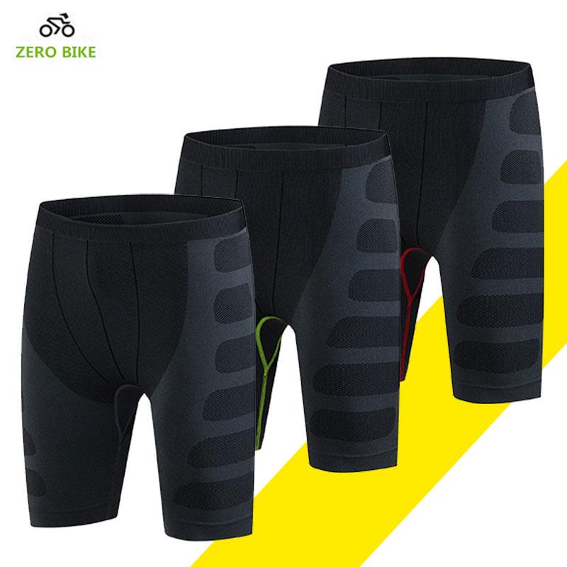 ZEROBIKE Жоғары икемділік Ерлердің велосипед теннисінен жасалған шорт-фитнес, ыңғайлы жылдам құрғақ спорт шорттары бермуд циклизмо