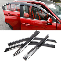Car Styling Accessories Plastic Window Visor Vent Shade Sun Rain Guard Deflectors 4pcs For Mitsubishi Eclipse Cross 2017 2019