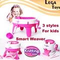 Smart Weaver Knitting Kit Máquina Brinquedos Educativos Para Crianças-Quick Malha Tear É Fácil de Usar, 3 Styels para escolher