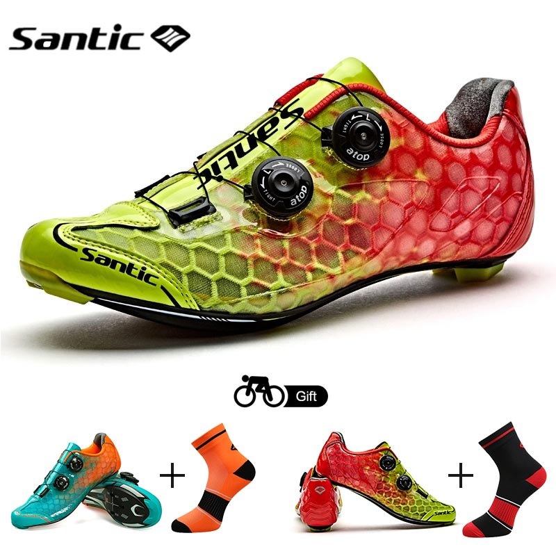 Santic Cycling Shoes Men Road Bike Shoes PRO Athletic Racing Team Sneaker Breathable Bicycle Sport Shoes Zapatillas Ciclismo santic men pro cycling shoes road bicycle shoes breathable