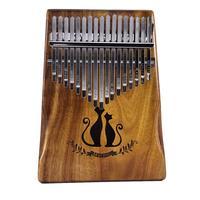 2018 17 Key Kalimba Finger Thumb Piano Mbira Calimba African solid Acacia Cat With Bag Gift Keyboard Instrument For Music Lover