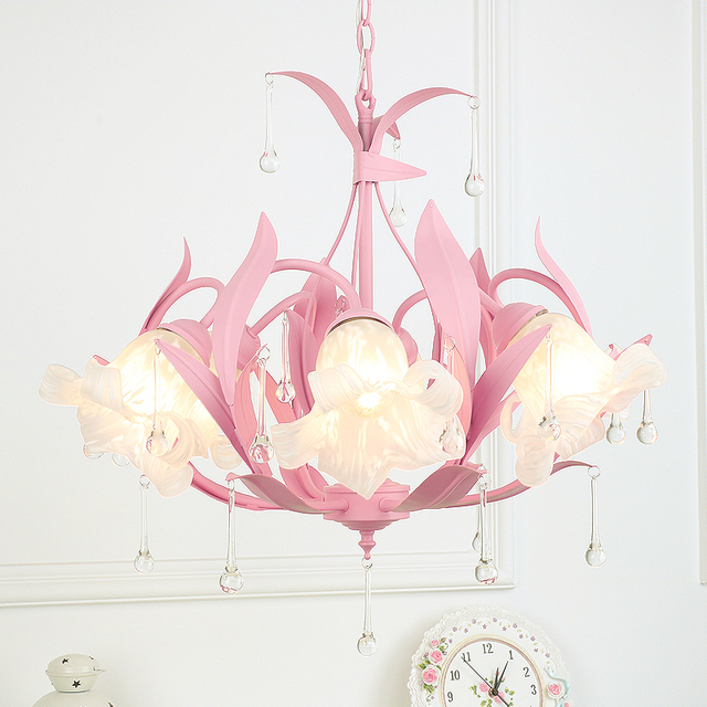 Pendant Lights warm pastoral children\'s princess room European style ...