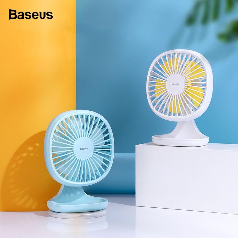 Baseus Portable USB Fan 3-Speed Mini Fan For Office Gadgets Desktop Desk Electric Small Fan Summer Cooler Cooling Fan Ventilador