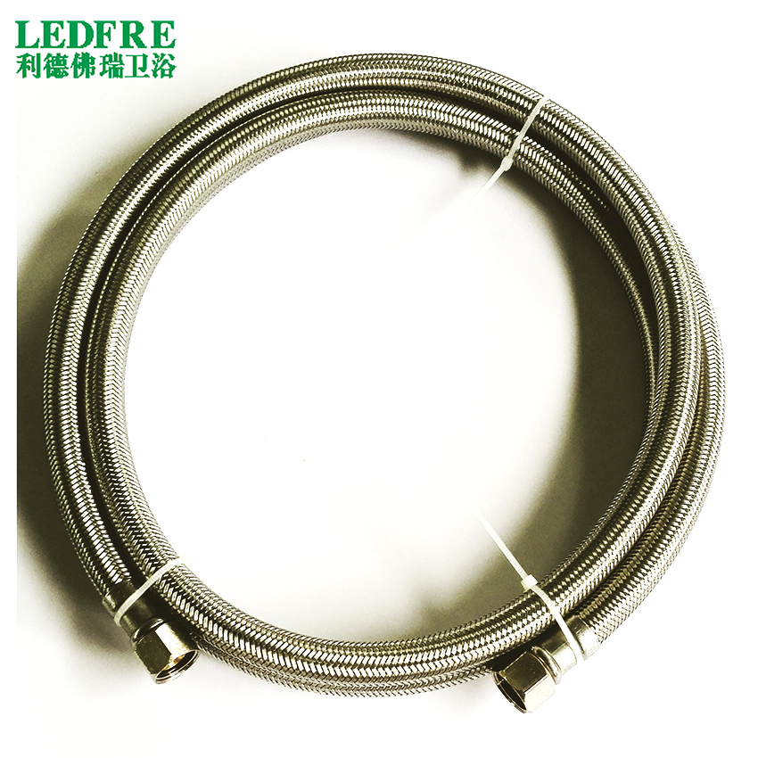 LF15012-72inch 3/8C*3/8C with EPDM Inner tube Flexible SS Diswasher Connector & SS braided connector
