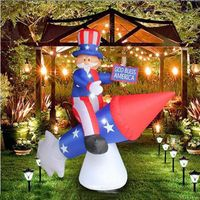 Most popular patriotic inflatable uncle sam riding rocket firework air blown