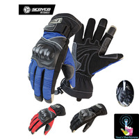 SCOYCO MC15B Waterproof Motorcycle Gloves Winter Knight Riding Touch Phones Gloves Men And Women