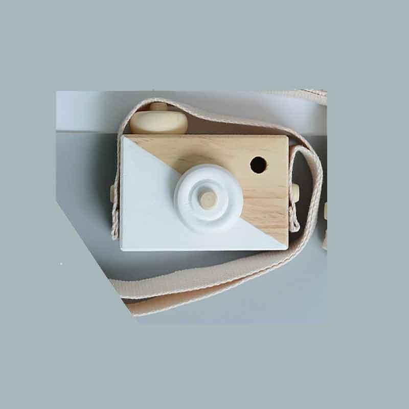 Скандинавский Европейский стиль камера Игрушки для маленьких детей декор комнаты предметы мебели ребенок Рождество День рождения деревянные подарки - Цвет: white