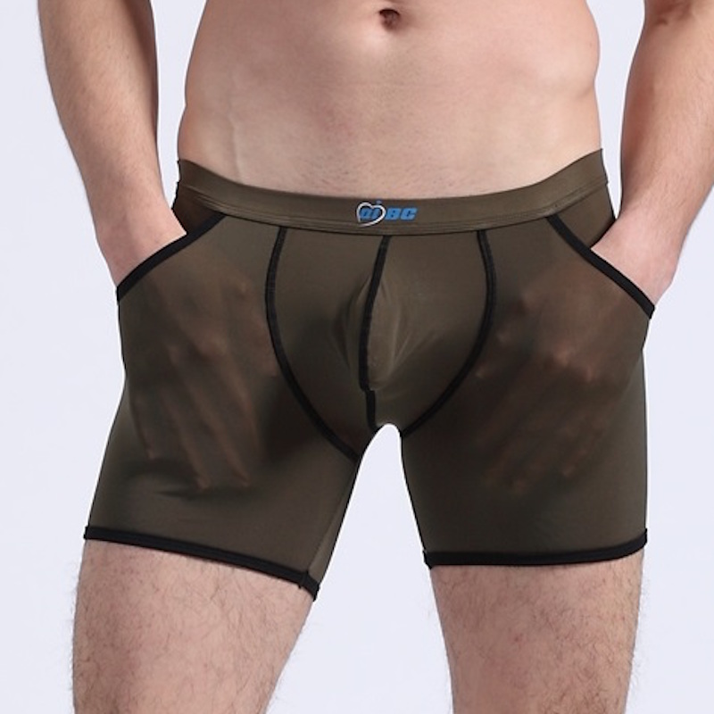 NEW Men's Panties Translucent Soft Male Ondergoed Mannen Viscose Long Boxer Uomo Man Boxer Underwear Calecon Homme Boxer