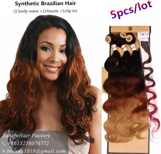 Aliexpress Buy Synthetic Hair Extension Deep Wave Brazilian