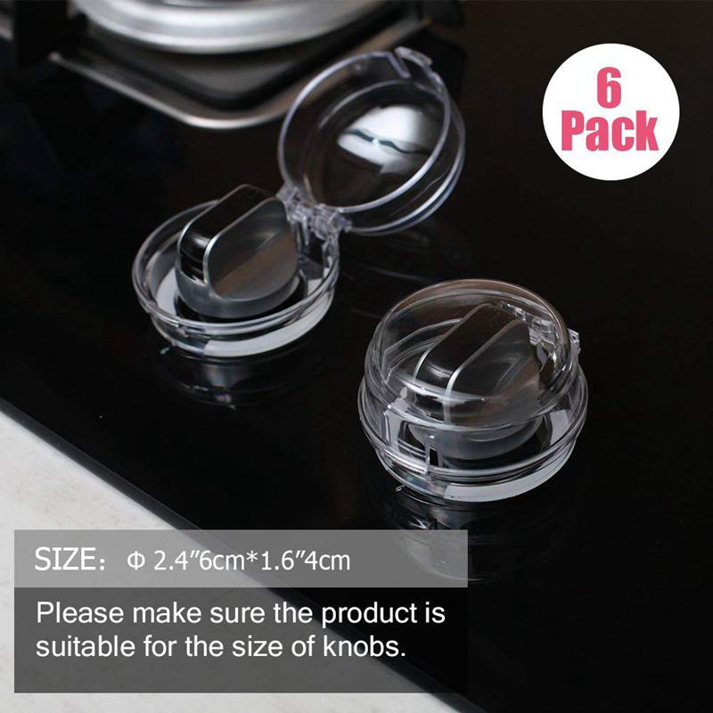 6 Pack Safety Children Kitchen Stove Knob Covers Mini Covers Suit For Small Gas Knob EU Power Socket Electrical Outlet Baby Kids